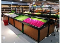 1 Layer Metal Wooden Retail Display Shelves For Grocery Shop 2 Years Warranty